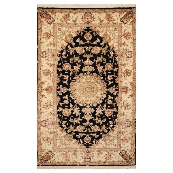 Hand Knotted Persian Tabriz Wool Area Rug Ebth: Shop Handmade Herat Oriental Indo Hand-knotted Tabriz Wool