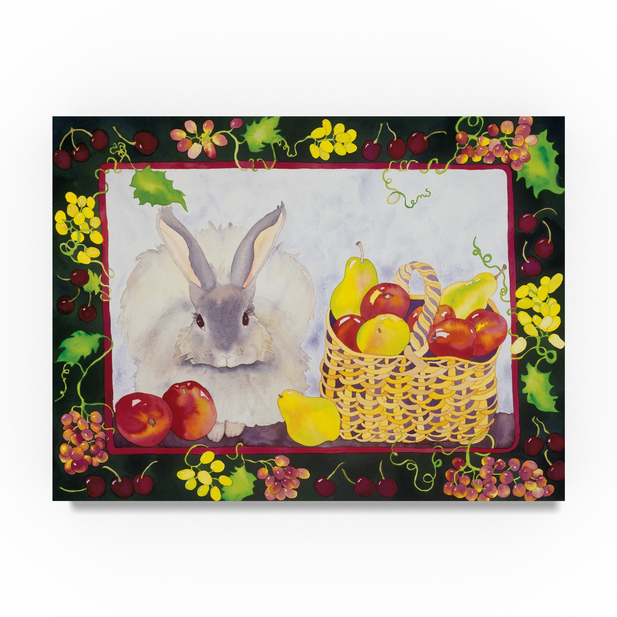 Trademark Carissa Luminess 'Bunny With Fruit Basket' Canv...