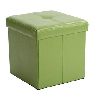Kennedy Single Folding Ottoman Lime