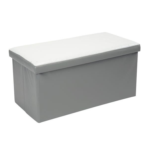 Shop Kennedy Double Folding Silver/White Faux Leather