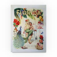 D. Rusty Rust 'Florida' Canvas Art