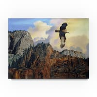 D. Rusty Rust 'Golden Eagle' Canvas Art