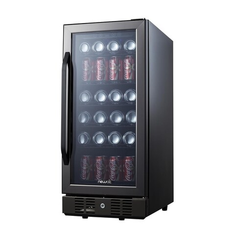 NewAir ABR-960B Compact 96 Can Built In Beverage Cooler, Black Stainless Steel