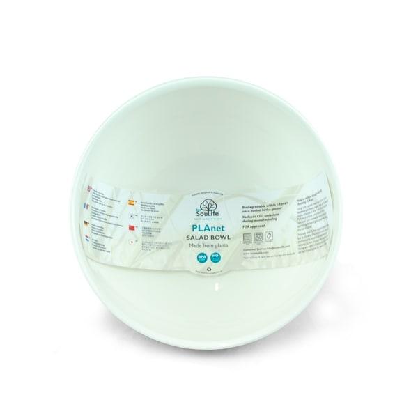 EcoSouLife PLAnet - Salad Bowl 128 Oz, White