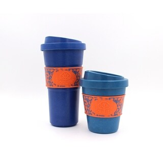 EcoSouLife Bamboo - Aroma Sip Cup 12 Oz., Navy