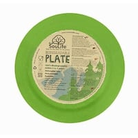 EcoSouLife Bamboo - Dinner Plate 25CM, Green