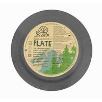 EcoSouLife Bamboo - Dinner Plate 25CM, Charcoal