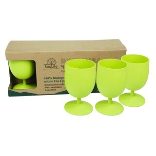 EcoSouLife Bamboo - Eco Goblet Set 4PC 15 Oz., Lime