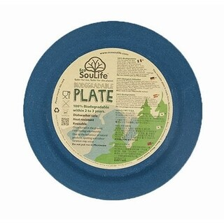 EcoSouLife Bamboo - Dinner Plate 25CM, Navy