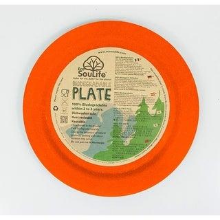 EcoSouLife Bamboo - Dinner Plate 25CM, Orange