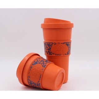 EcoSouLife Bamboo - Aroma Sip Cup 12 Oz., Orange