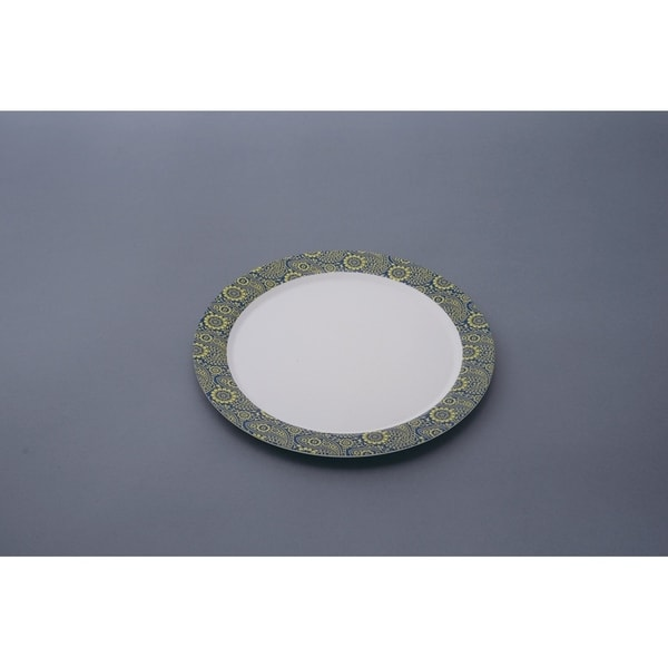 """EcoSouLife Bamboo - Printed Dinner Plate 10"""" / 25CM, Paisley"""