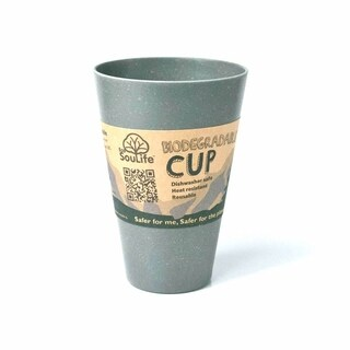 EcoSouLife Bamboo - Cup 15 Oz., Charcoal