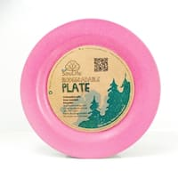 EcoSouLife Bamboo - Side Plate 20CM, Pink