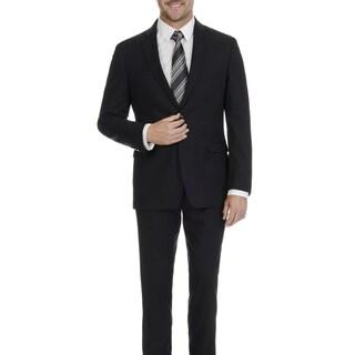 U.S. Polo Assn. Men's Grey Solid 2 Button 2 Piece Suit