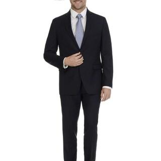 U.S. Polo Assn. Men's Navy Solid 2 Button 2 Piece Suit