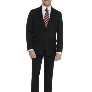 U.S. Polo Assn. Men's Black Solid 2 Button 2 Piece Suit