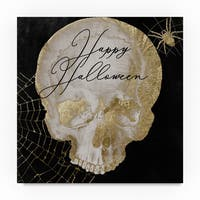 Color Bakery 'Happy Halloween Skull' Canvas Art