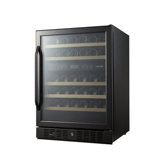 NewAir AWR-460DB-B Dual Zone 46 Bottle Built In Wine Cooler, Black Stainless Steel