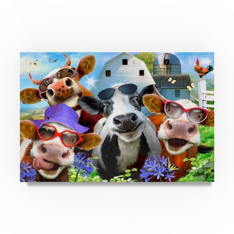 Howard Robinson 'Chill Cows' Canvas Art