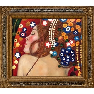 Gustav Klimt 'Sea Serpents IV' Hand Painted Oil Reproduction