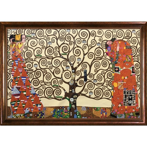 Gustav Klimt 'The Tree of Life, Stoclet Frieze, 1909' Hand Painted Oil Reproduction