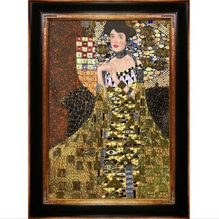 Gustav Klimt 'Portrait of Adele Bloch Bauer I' (Luxury Line) Hand Painted Oil Reproduction