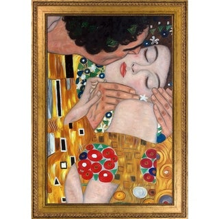 Gustav Klimt 'The Kiss' (close-up) Hand Painted Oil Reproduction