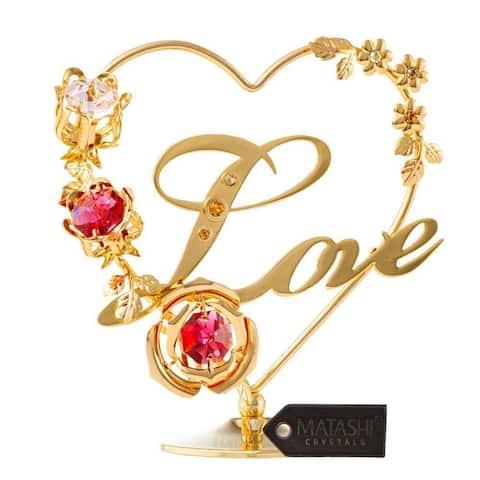 Love Ornament W/ Matashi Crystals