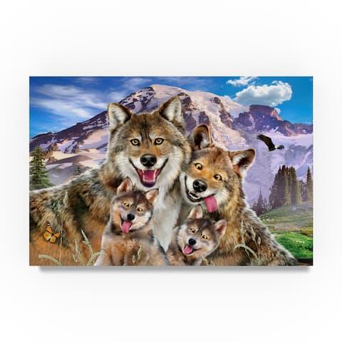Howard Robinson 'Happy Wolves' Canvas Art