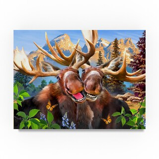 Howard Robinson 'Happy Moose' Canvas Art