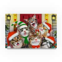 Howard Robinson 'Caroling Kittens' Canvas Art