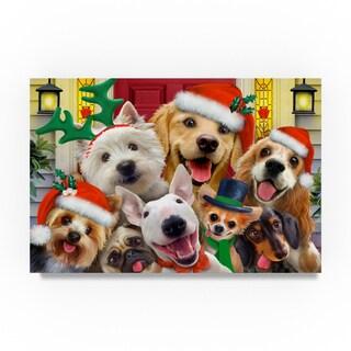 Howard Robinson 'Christmas Dogs' Canvas Art