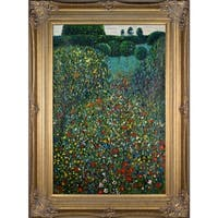 Gustav Klimt 'Poppy Field' Hand Painted Oil Reproduction
