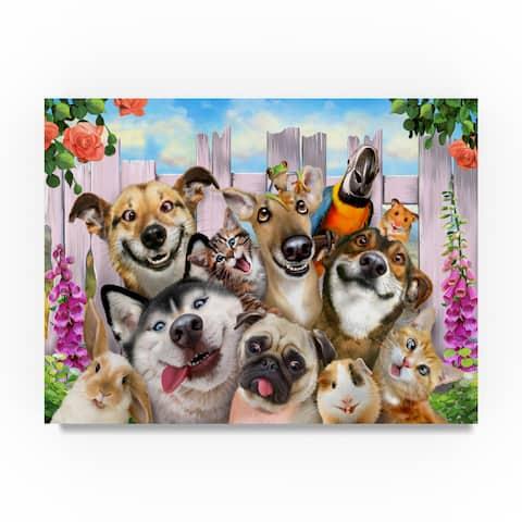 Howard Robinson 'Goofy Garden Dogs' Canvas Art