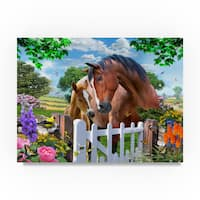 Howard Robinson 'Horse Family' Canvas Art