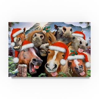Howard Robinson 'Christmas Horses' Canvas Art