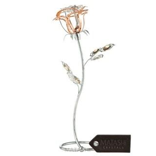 Matashi MTFL12988BM 24K Rose Flower Tabletop Ornament--(5 color options)