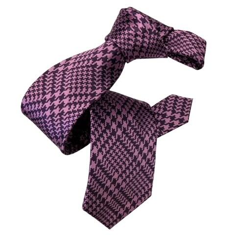DMITRY Purple Patterned Silk Italian Tie