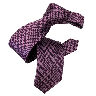 DMITRY Purple Patterned Silk Italian Tie