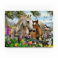 Howard Robinson 'Garden Horses' Canvas Art