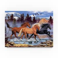 Howard Robinson 'Three Horses' Canvas Art