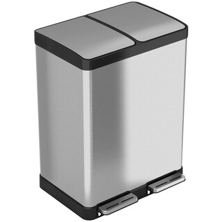 halo 60 Liter / 16 Gallon Premium Stainless Steel Step Can