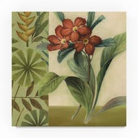 Lisa Audit 'Flowers of Paradise 3 Green' Canvas Art