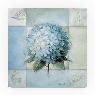 Lisa Audit 'Blue Hydrangea Study 2' Canvas Art