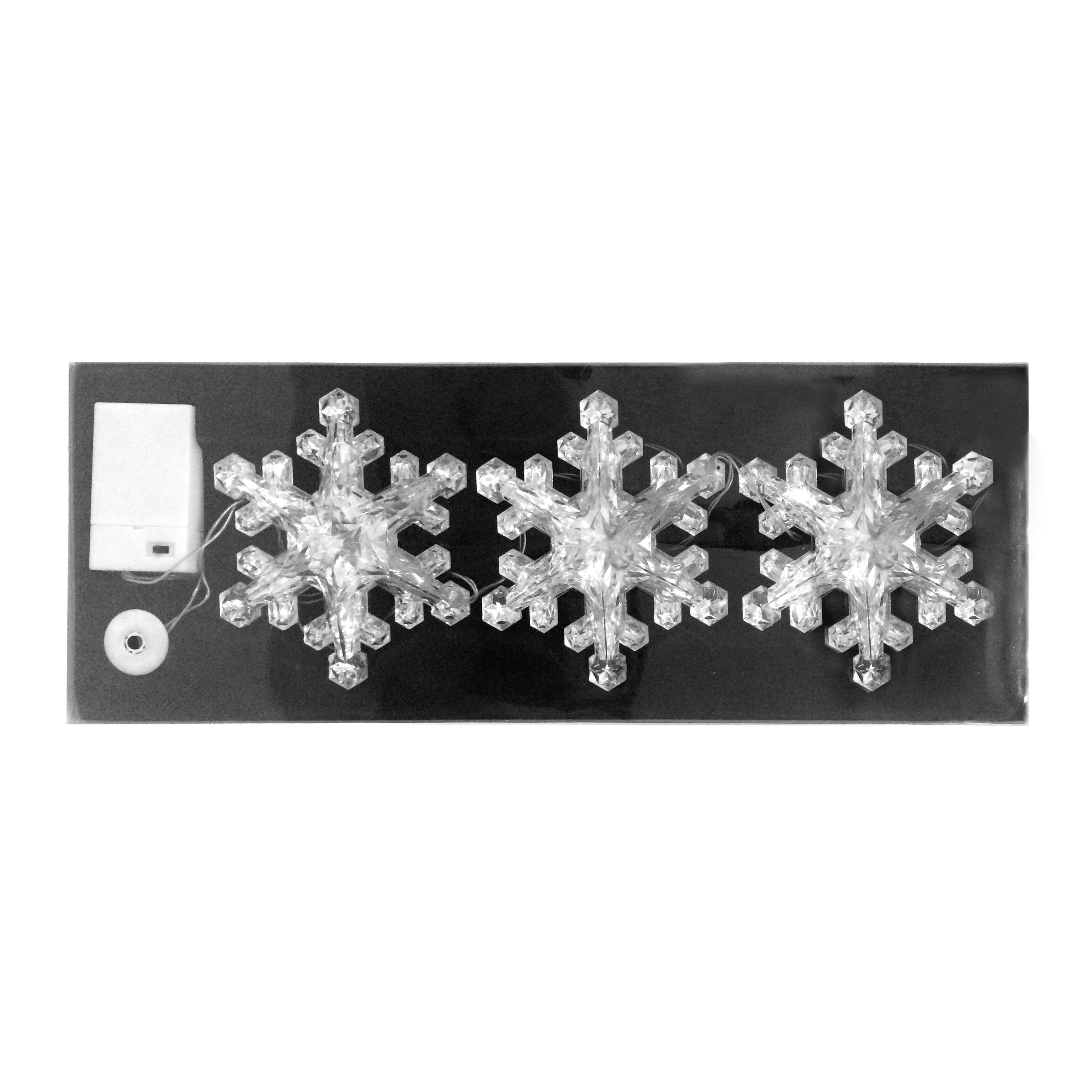 Jeco 4Ft Christmas Acrylic Led Snowflake with Try Me (whi...