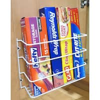 Evelots Mounted Kitchen Wrap Organizer Rack