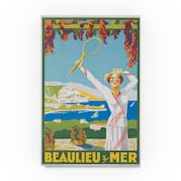French School 'Beaulieu-sur-Mer Advertisement 1925 ' Canvas Art