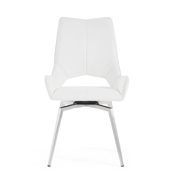 Bucket Seat Style White Dining Chair