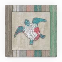 Lightboxjournal 'Wood Frame Turtle' Canvas Art